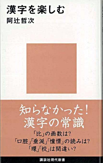 漢字を楽しむ <講談社現代新書>