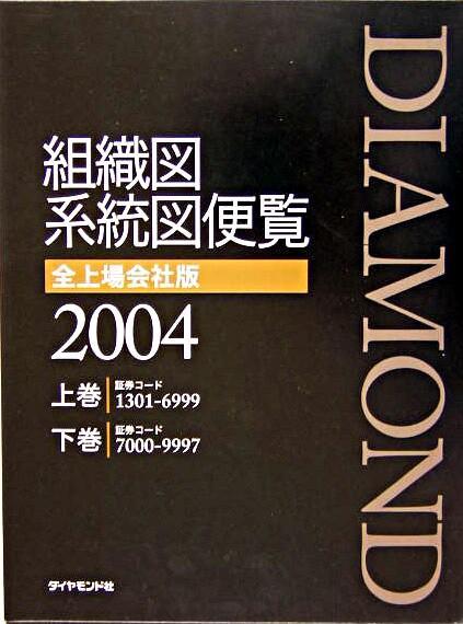 組織図系統図便覧 全上場会社版 2004